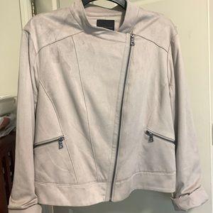 Elie Tahari Faux Swede Jacket